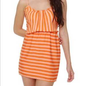 NWT Collective Concepts orange striped dress